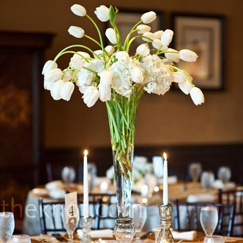 the bridal solution tbs inspiration white tulip centerpieces. Black Bedroom Furniture Sets. Home Design Ideas