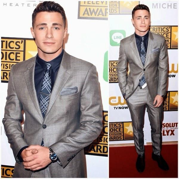 Colton Haynes Emporio Armani suit 4th Annual Critics Choice Television Awards