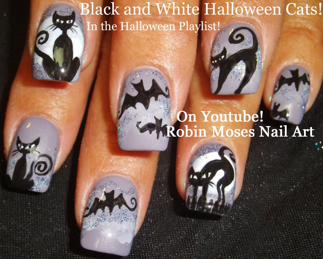 Robin moses nail art cute halloween skeleton nails skeleton nail art hot halloween no water marble flames nail design tutorial prinsesfo Images