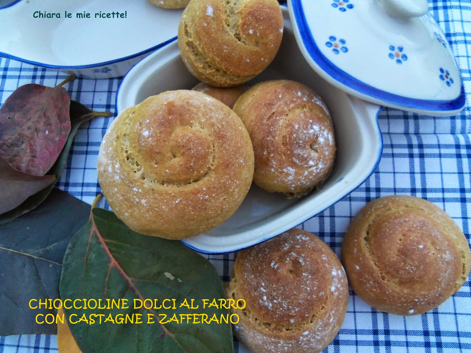 chioccioline dolci al farro con castagne e zafferano