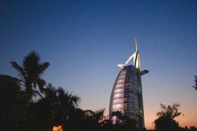 sunset at Burj Al Arab
