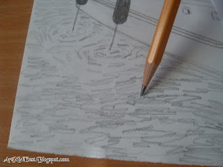 how draw water pencil shade