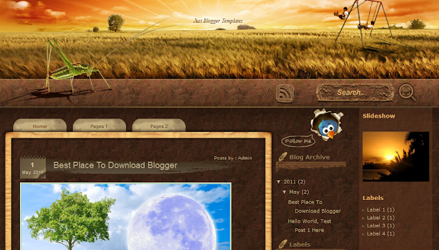 Sunset Farm Blogger Template