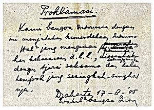 teks Proklamasi kemerdekaan RI yang asli