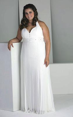 Vestido de novia sencillo para gordita