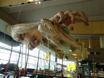 Estatua de Gollum en el aeropuerto de Wellington - curiosidades