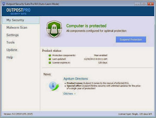Outpost Security Suite Pro 9 Activation Key Free 4Months