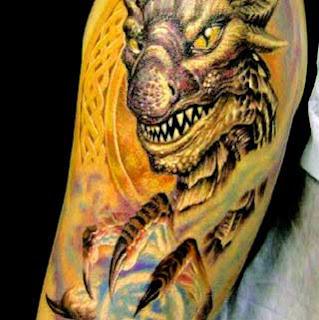 Tatuagens de dragão coloridas
