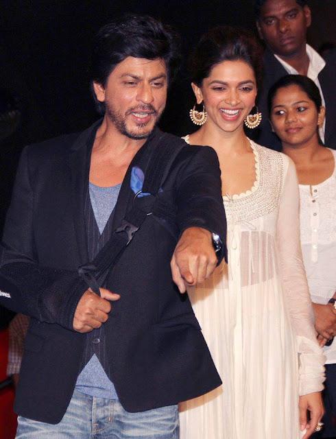 Shahrukh, Rohit & Deepika Padukone @ Chennai Express Trailer Launch-1