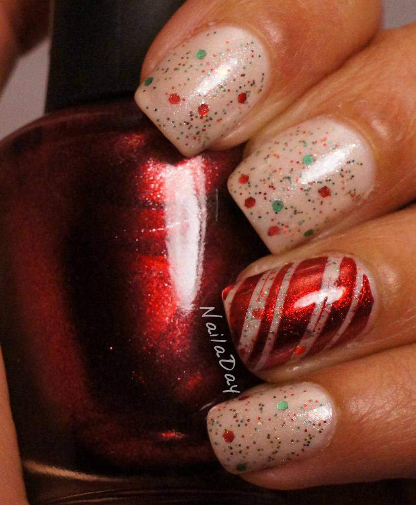 NailaDay: Peppermint Candy mani update