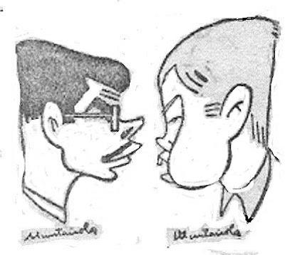 Caricaturas de Antonio Medina y Arturo Pomar