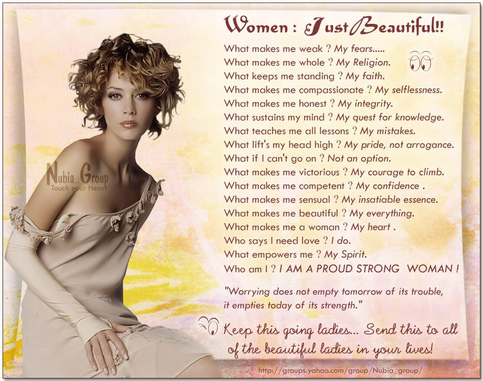 Life inspiration es beautiful women inspirational e
