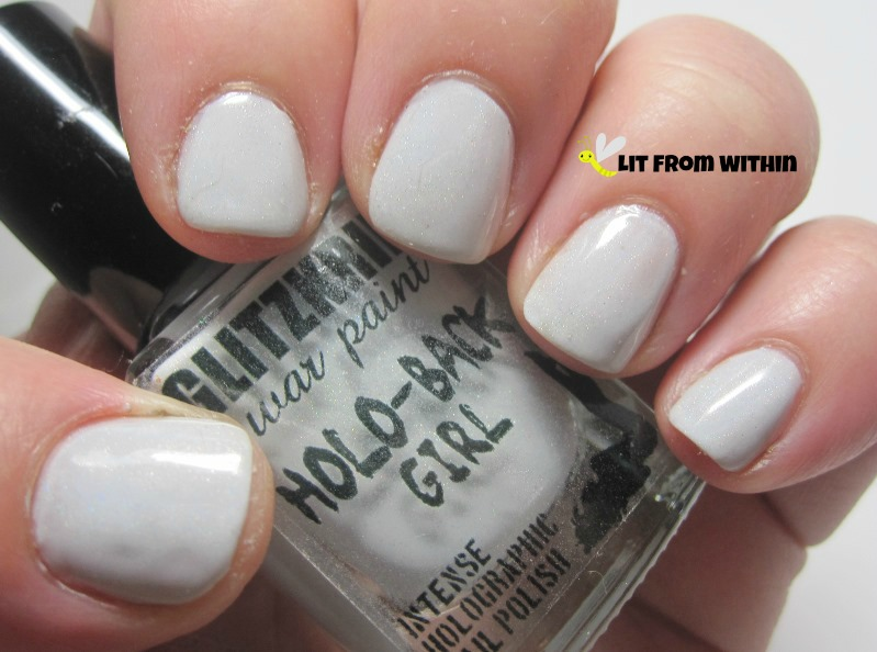 Glitzkrieg War Paint Purity, an off-white/dove grey with a subtle holo.