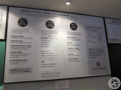Image of Menu of Mother Mash in London, England