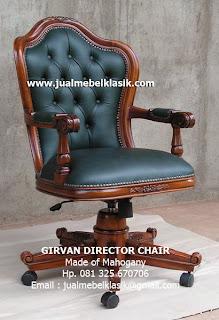 Supplier kursi director kursi kantor terbuat dari kayu mahoni