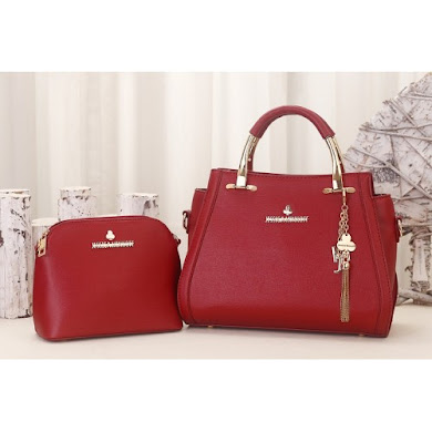 JESSICA MINKOFF BAG (2 IN 1 SET) - MAROON