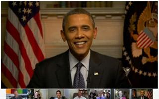 Видео интервью с Президентом США Бараком Обамой с помощью Google + Hangouts.