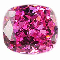 pink cushion cz stones