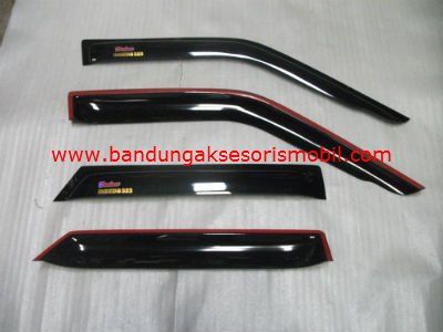 Talang Air Mazda 323 Original Black Depan Belakang