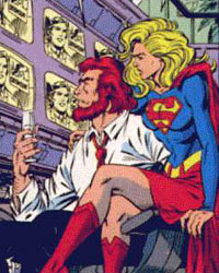 Supergirl y Lex Luthor