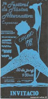 entrada festival capçanes 1984