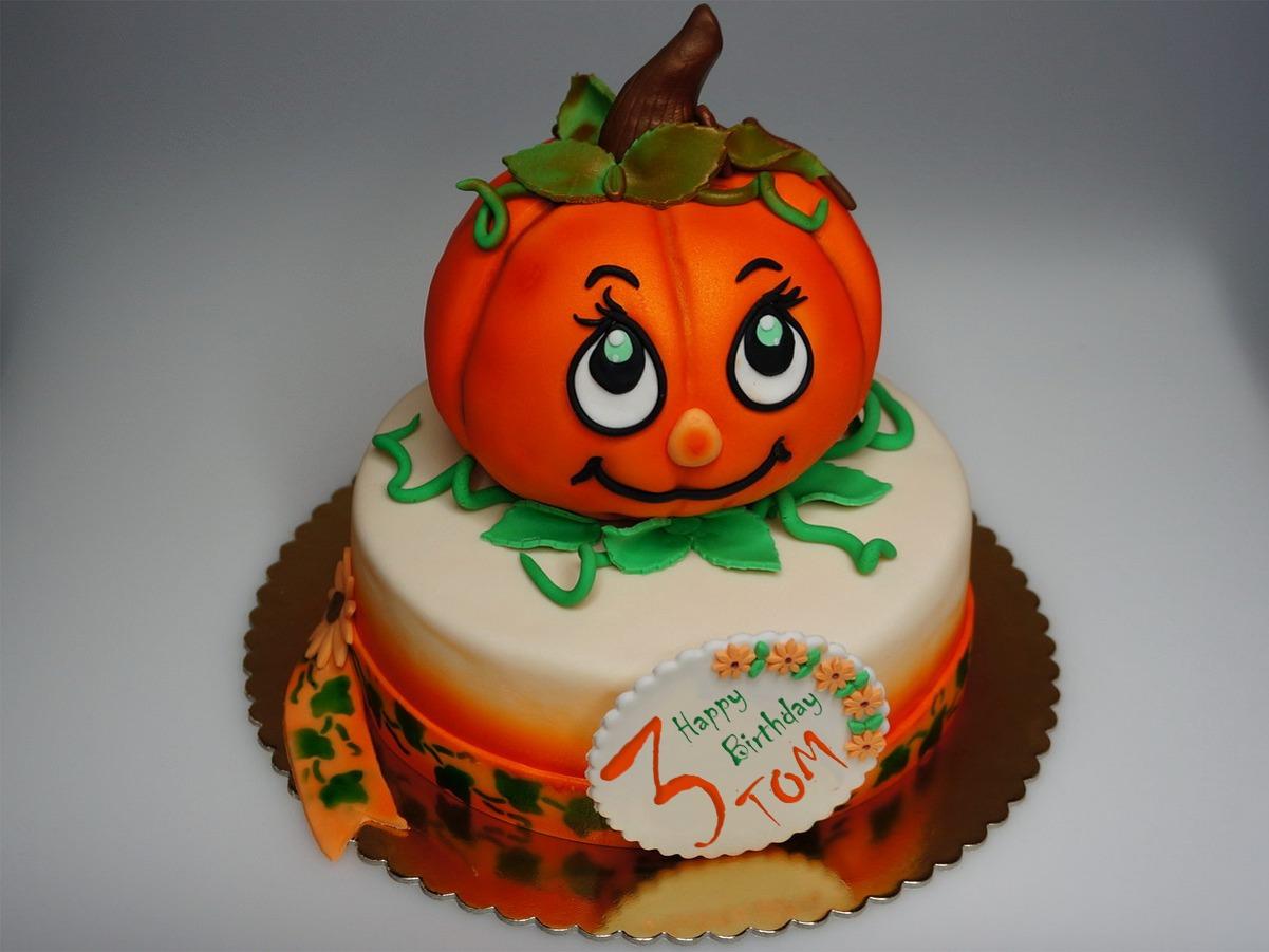 London Patisserie: Children Birthday Cake Pumpkin - London