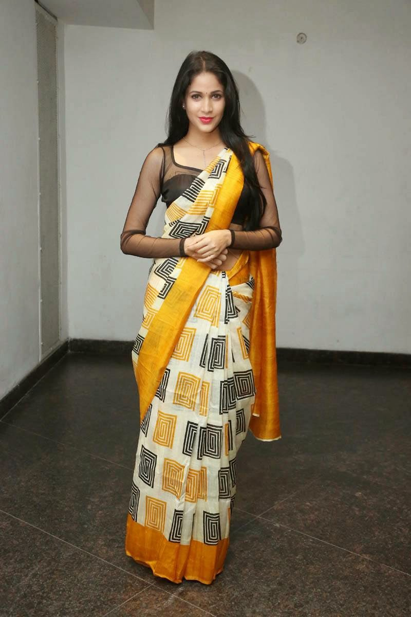 Lavanya Tripathi in Printed Silk Saree