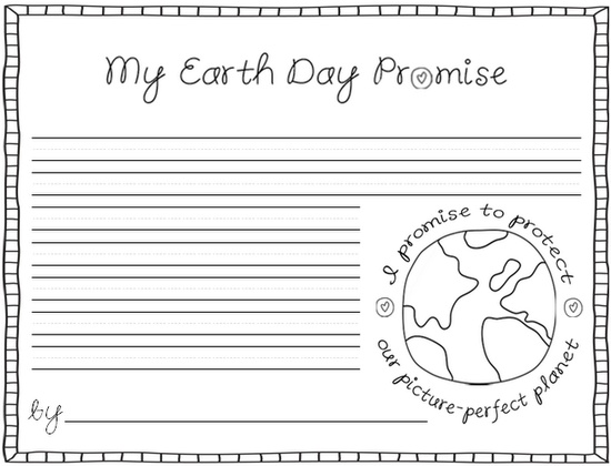 Earth Day Worksheets 3rd Grade : Cottage street school green team my earth day promise