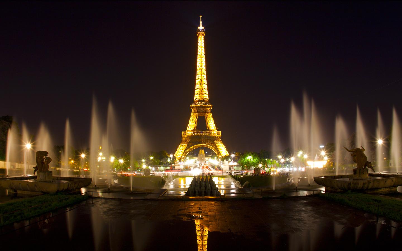 Kk Keindahan Menara Eiffel Di Malam Hari