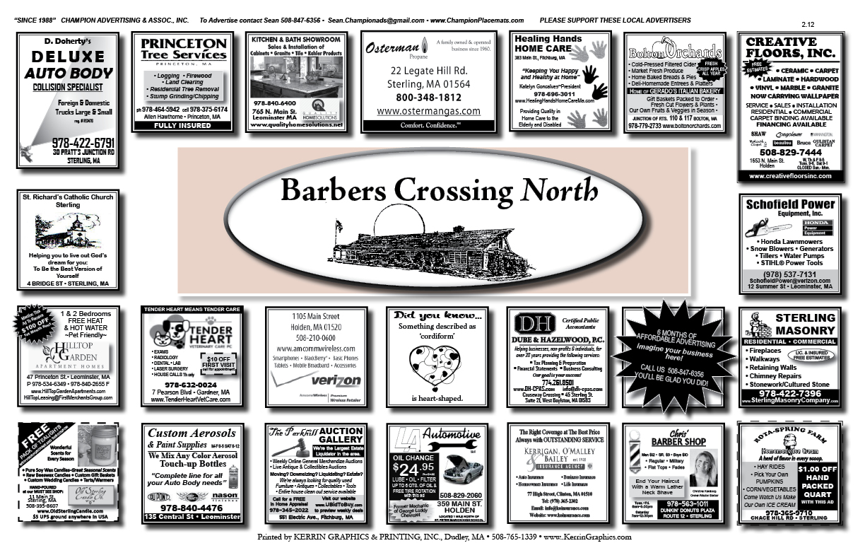 Champion advertising associates inc barbers crossing north for North main motors leominster ma
