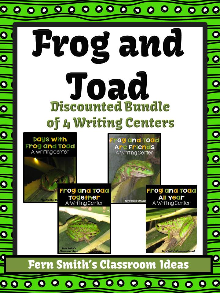 Fern Smith's Discounted Bundle of ALL 4 Frog and Toad Books Writing Centers
