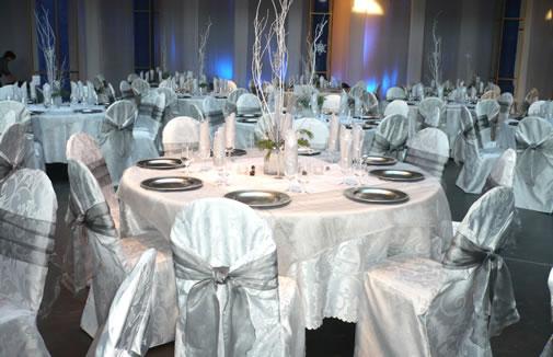 silver wedding receptions