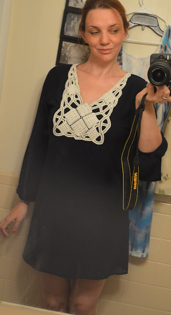 My Beloved Crochet Open Sleeve Dress