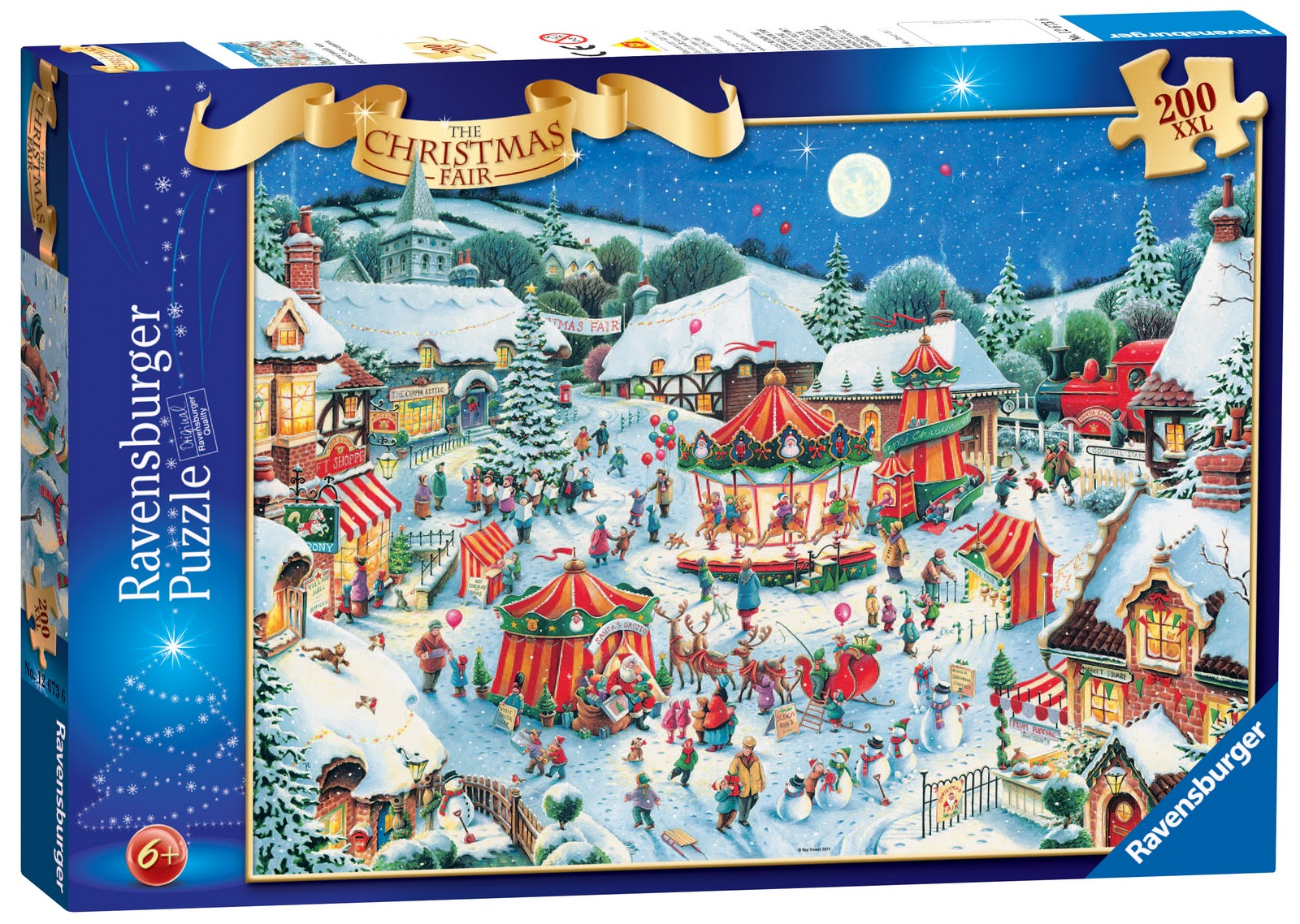 Review: Christmas Fair 200 XXL puzzle from Ravensburger | Him, me ...