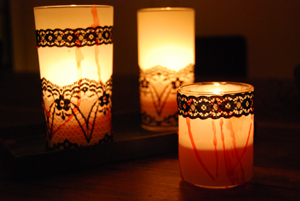 Victorian Mourning Candles by Make, Grow, Gather