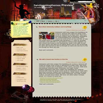 San Diego Hi5 blogger template. converted WordPress to Blogger template. diary personal template blog