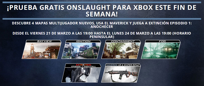 Este fin de semana podrás probar el DLC Onslaught gratis