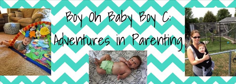 Boy Oh Baby Boy C - Adventures in Parenting