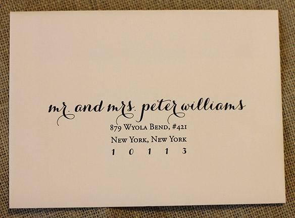 Digital Calligraphy For Your Wedding Invitation Envelopes