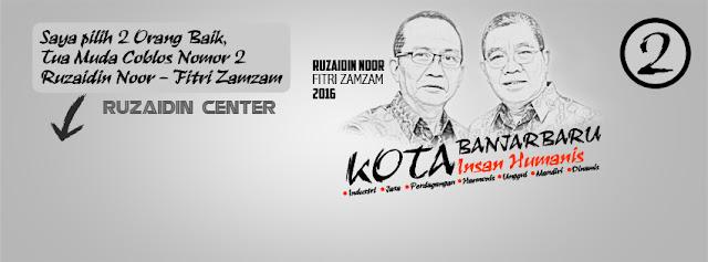 Cover Facebook Ruzaidin Noor dan Fitri Zamzam Calon Walikota Banjarbaru 2016-2021 Berkarya untuk Perubahan Banjarbaru Lebih Baik