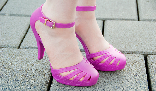 melissa shoes, jelly shoes, pink heels