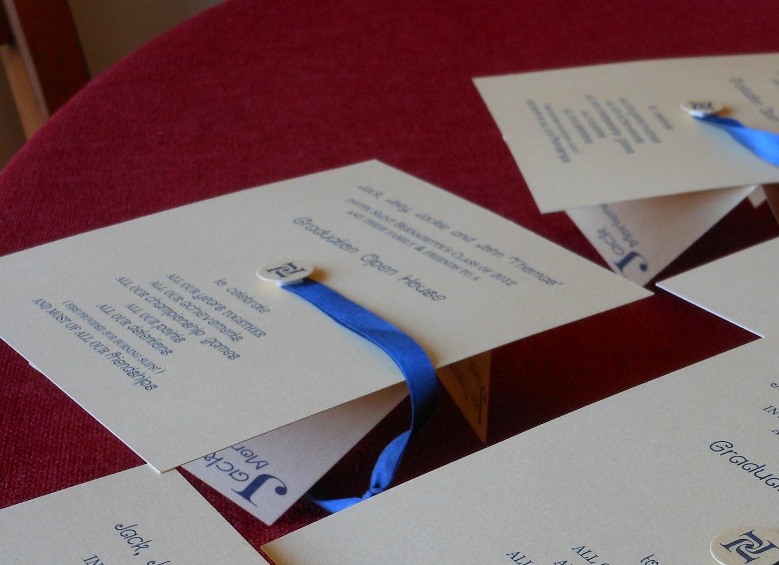 kim grant, ink & such: Graduation Cap Invitation