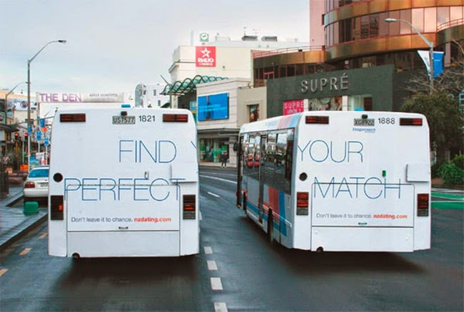 Bus Campaign for NZ Dating Features Dual Adverts