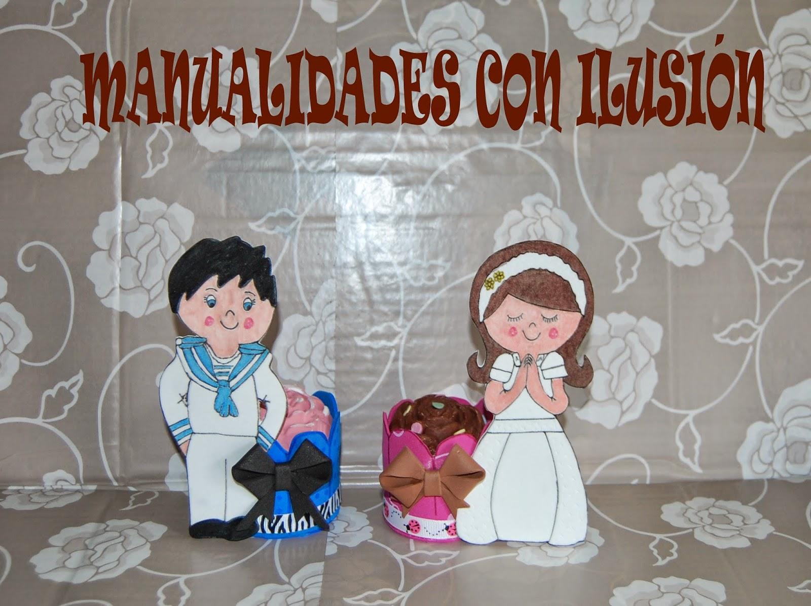 Manualidades con ilusion cupcake comunion - Detalles goma eva ...