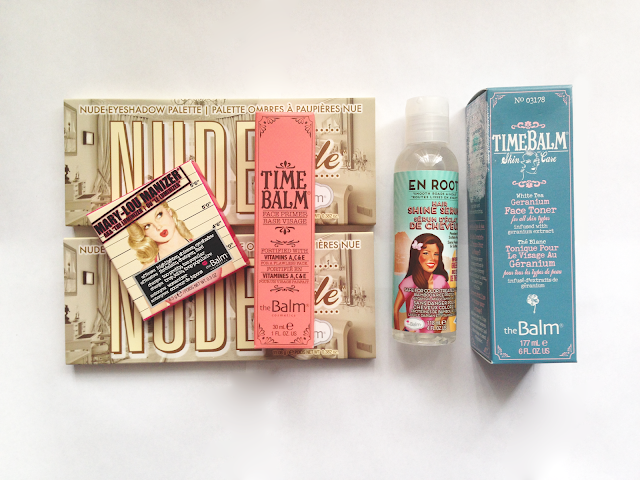 thebalm haul manizer time balm en root toner makeup beauty blog