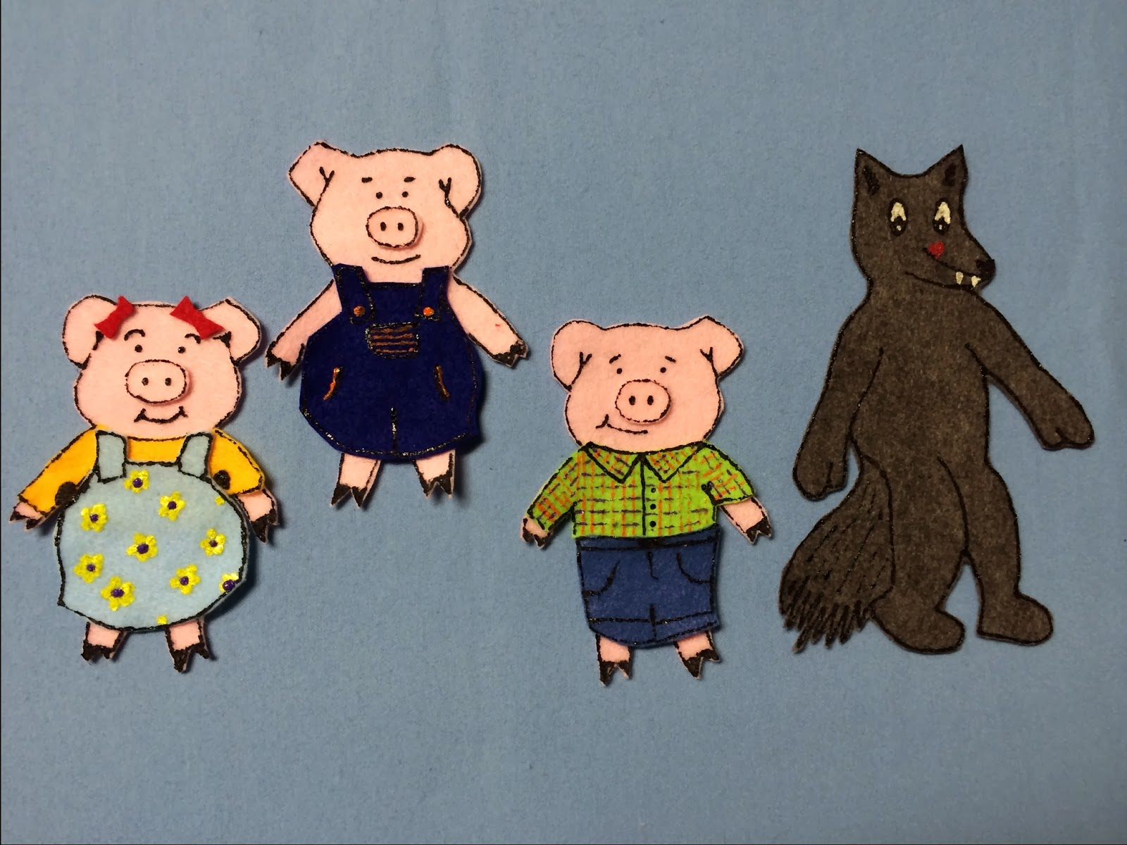 library village flannel friday the three little pigs