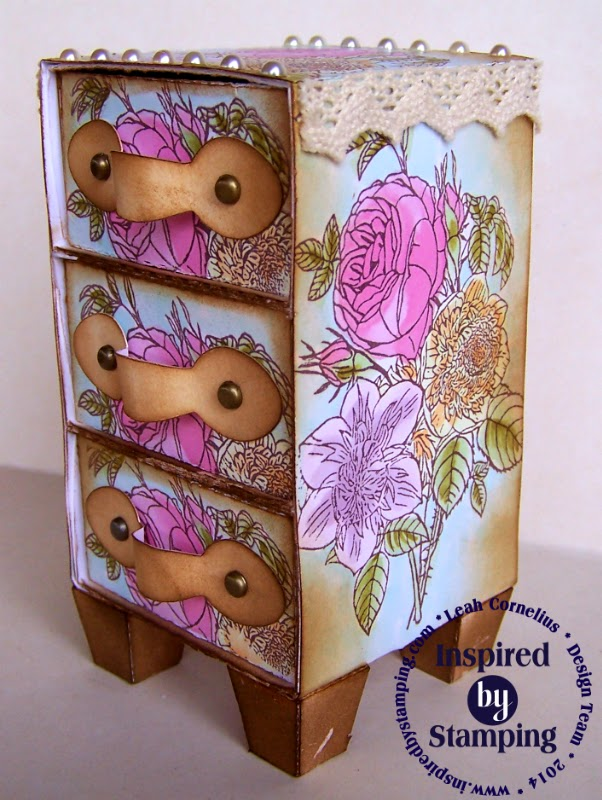 Inspired by Stamping, Leah Cornelius, 3D projects, Drawers, Mother's Day Bouquet Stamp Set