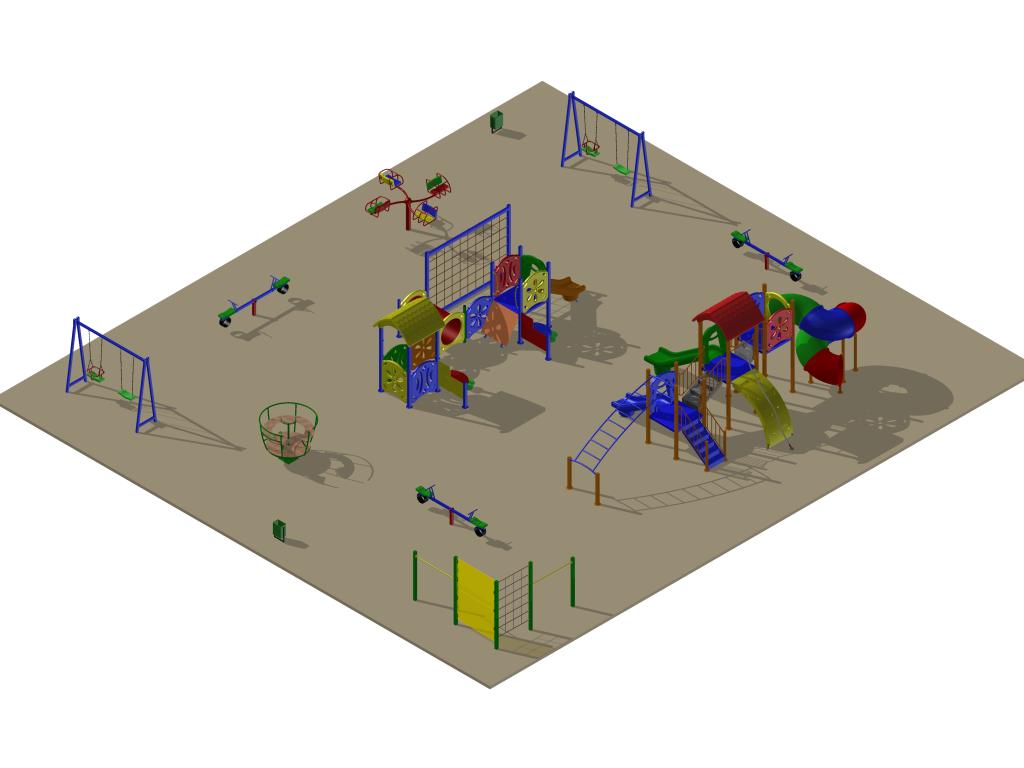 Детская площадка на Лорха, 7, вариант 3 (проект)