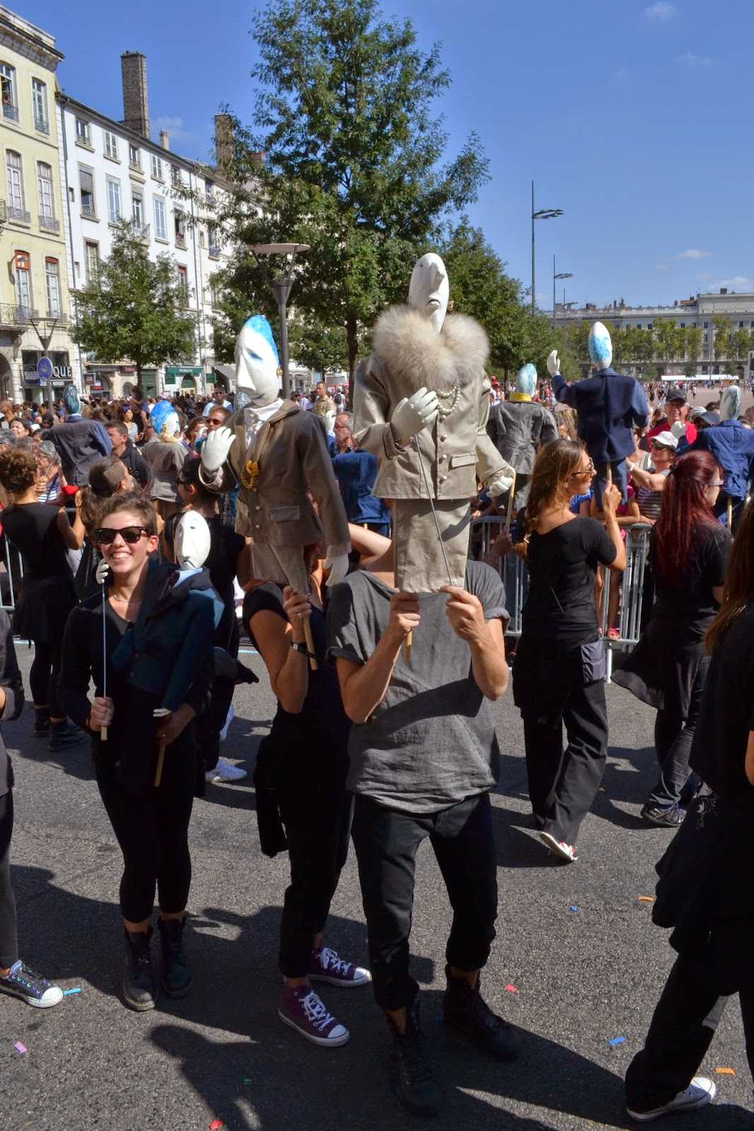 Biennale de la danse lyon 10ème défilé 14 septembre 2014 Terreaux Bellecour