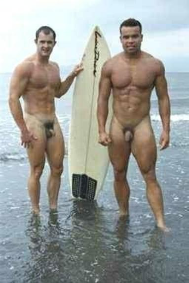 Surfer men naked